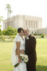 Aaron and Kristyn at Mormon Temple