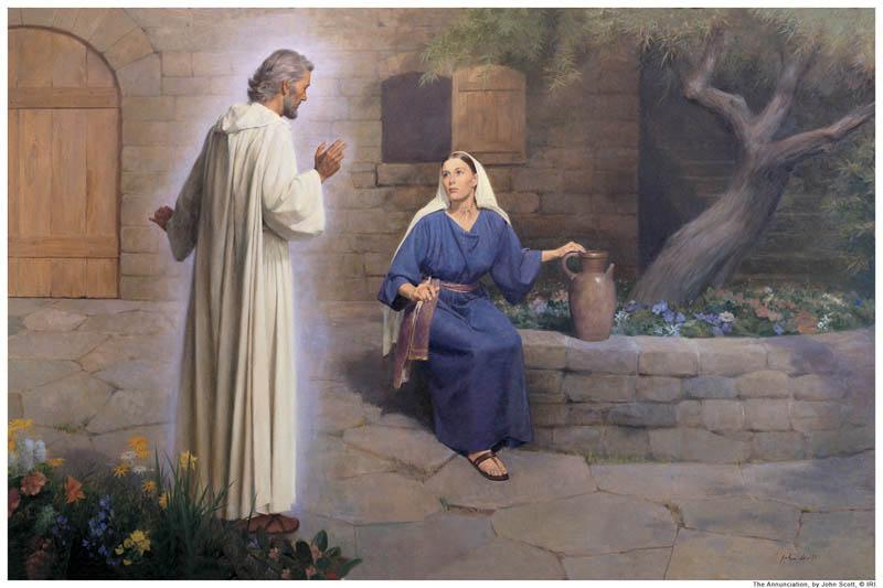 Angel Gabriel Mary Mormon