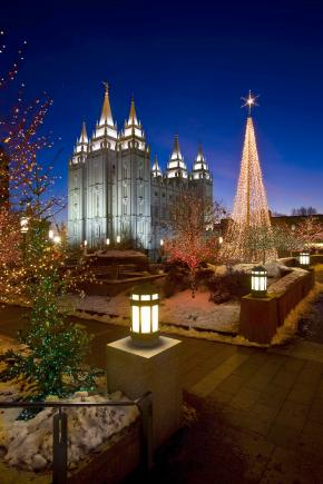 Christmas Lights Mormon Temple Square