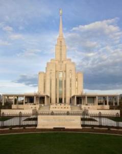 Oquirrh Mt. Utah Mormon Temple