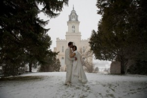 Rivka and Jeff Manti Mormon Temple Wedding