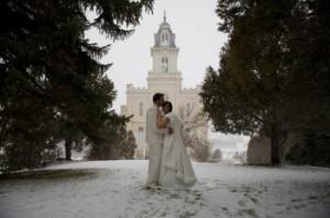 Rivka and Jeff Manti Mormon Temple Wedding