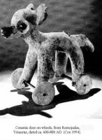 An Ancient American wheeled toy