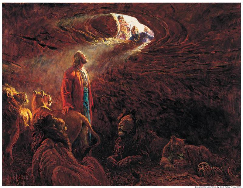 Daniel in Lions' Den Mormon
