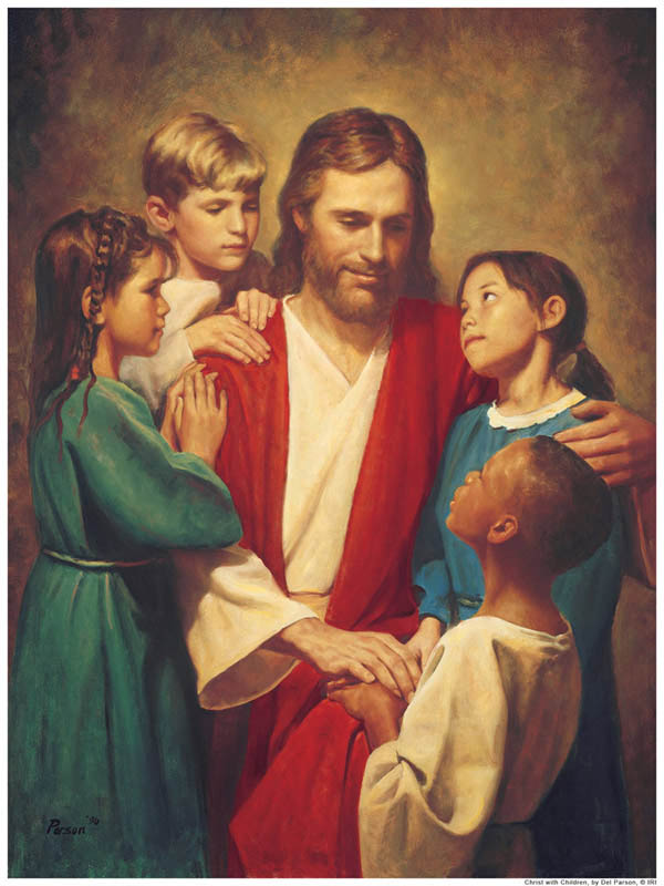 Jesus Christ and Children Mormon