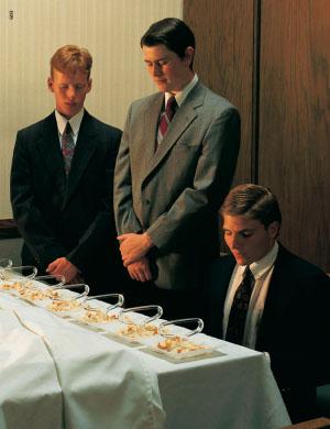 Mormon Blessing the Sacrament