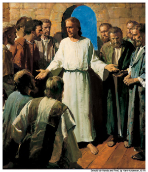 Jesus Shows His Wounds Mormon