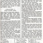 Moses 4 31-5 9 One Page Mormon Pearl of Great Price