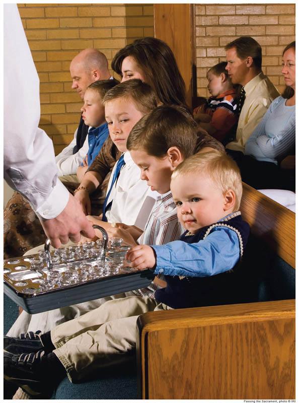 Mormons worshiping.