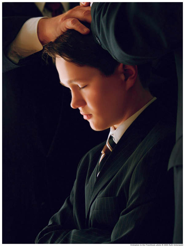 A Mormon Priesthood ordination