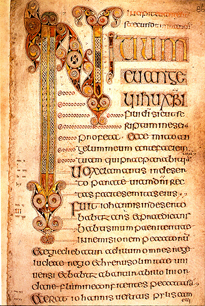 Gospel of Mark, Book of Durrow from Wikipedia