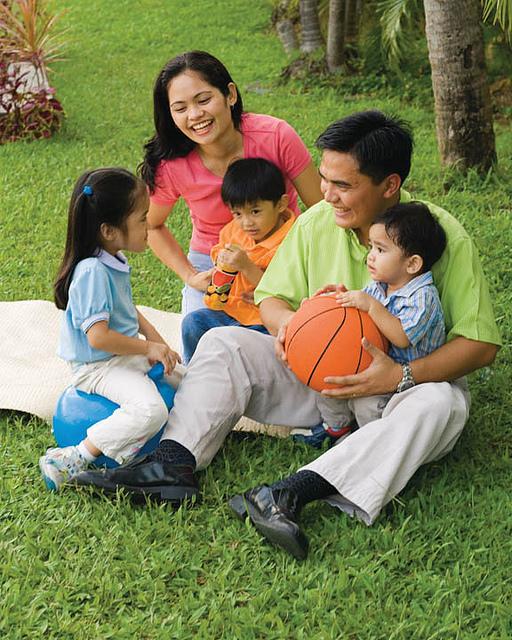 Asian Mormon family