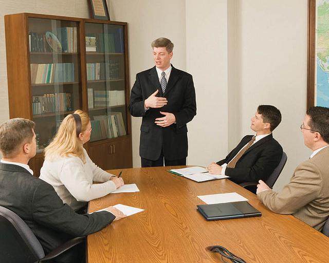 Mormons in meeting