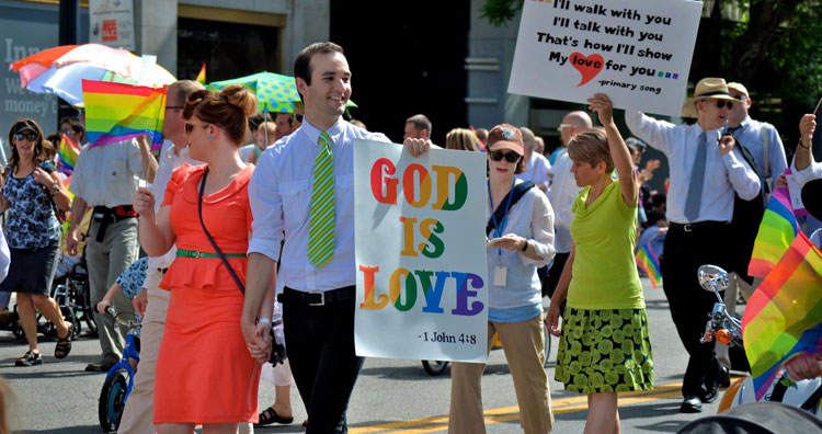 Mormons celebrating the gay people they love.