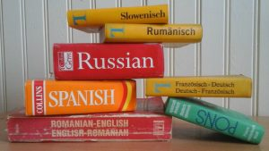 Several language studing books