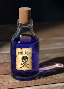 Poison bottle via qimono on pixabay.com